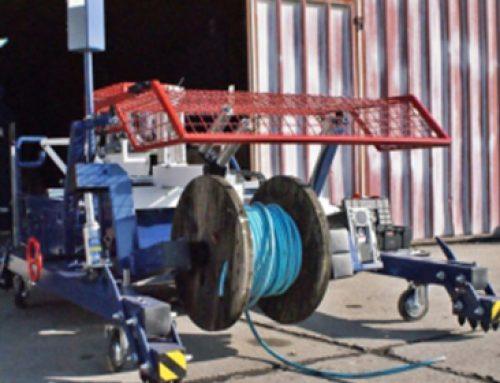 Mašina za premotavanje kablova za potrebe Naftne industrije Srbije